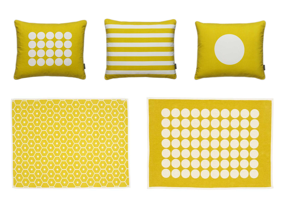 Yellow Pappelina Cushions & Blankets