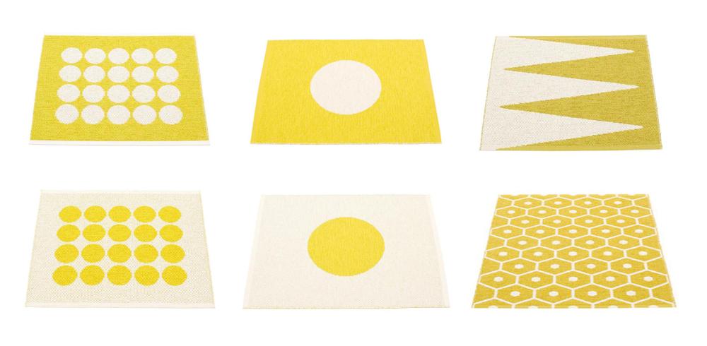 Yellow Pappelina Doormats