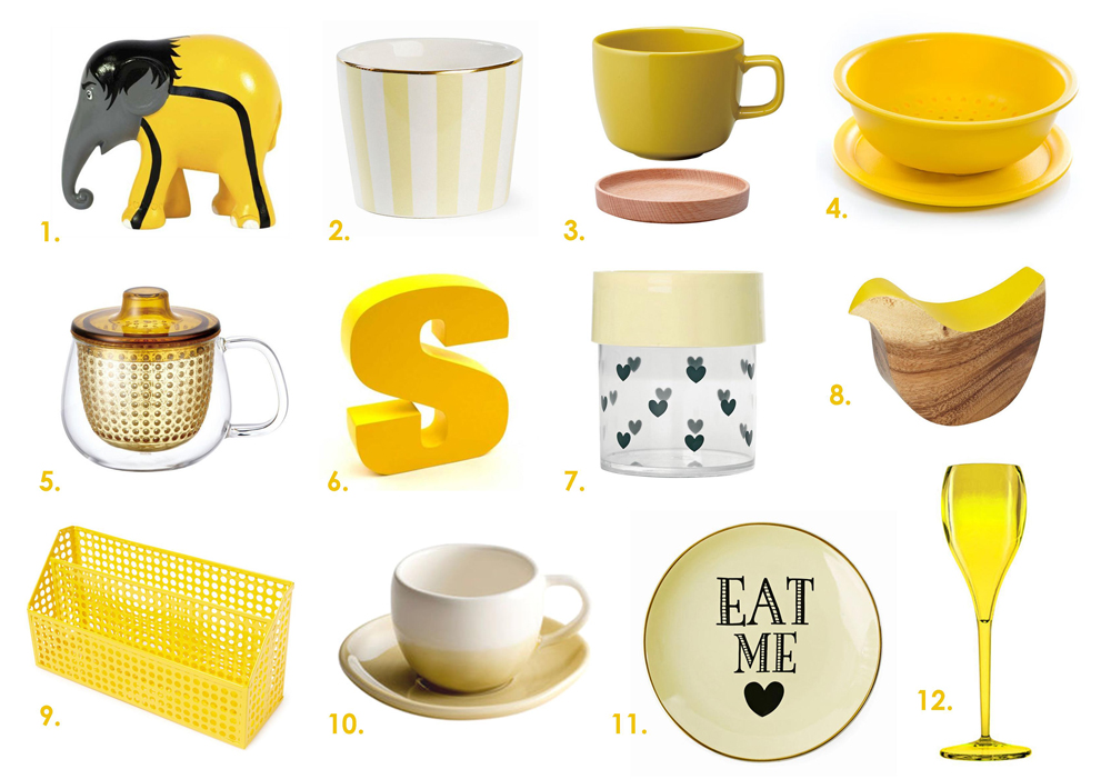Yellow Products with numbers