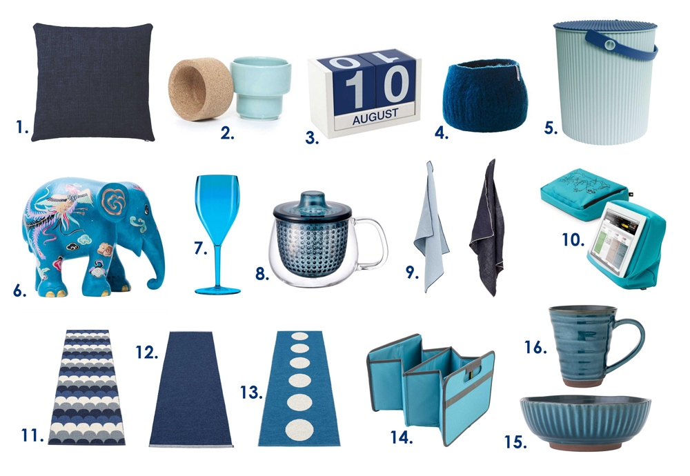January Blues Products numbered