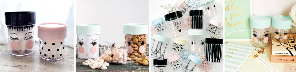 Miss Etoile Decorative Storage Canisters