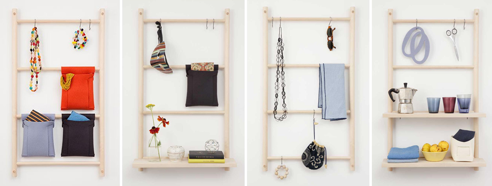 Verso Design Decorative Storage Wall Ladders
