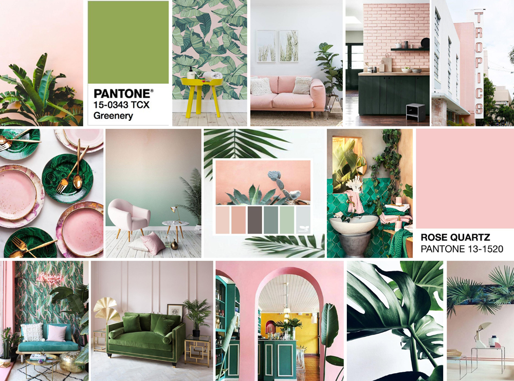 tropical vibes pink and green colour crush homearama