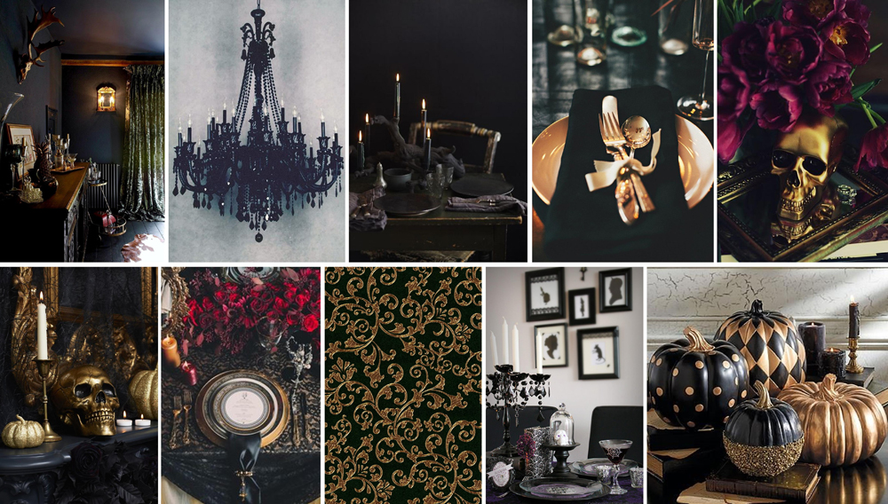 Halloween Glam Mood Board
