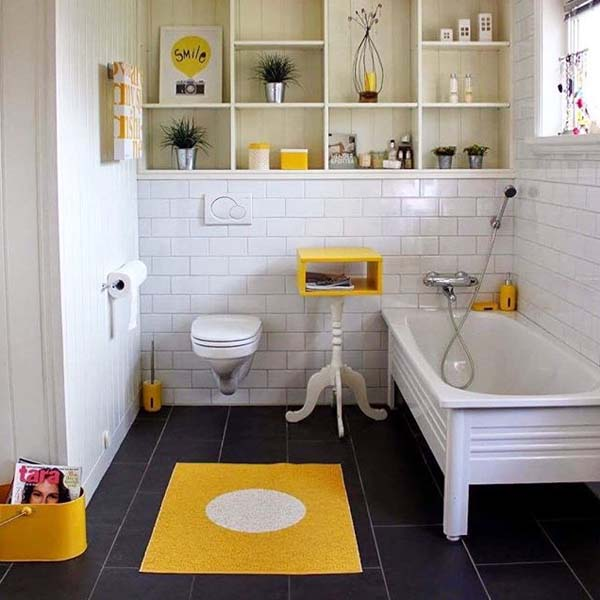 Yellow Interiors Pappelina Vera Lemon Bathmat
