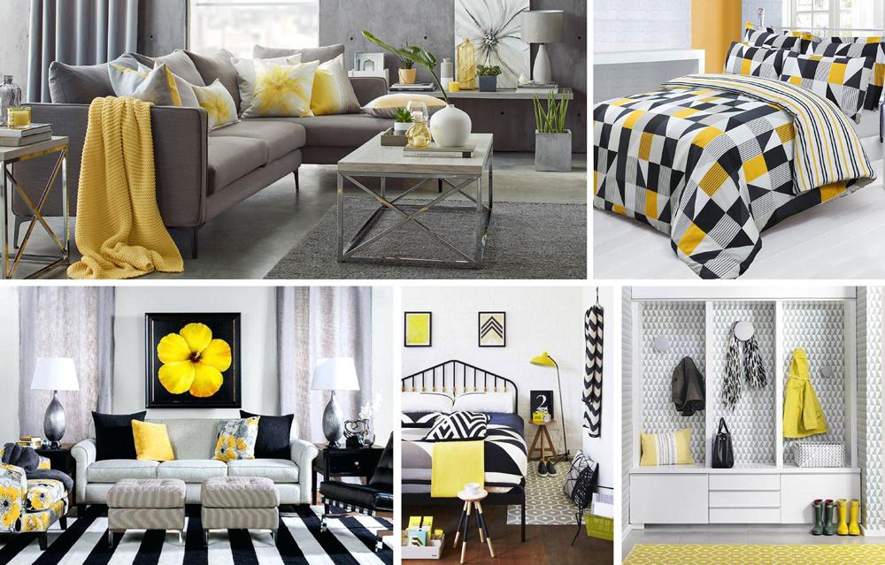 Yellow Interiors - Yellow & Grey
