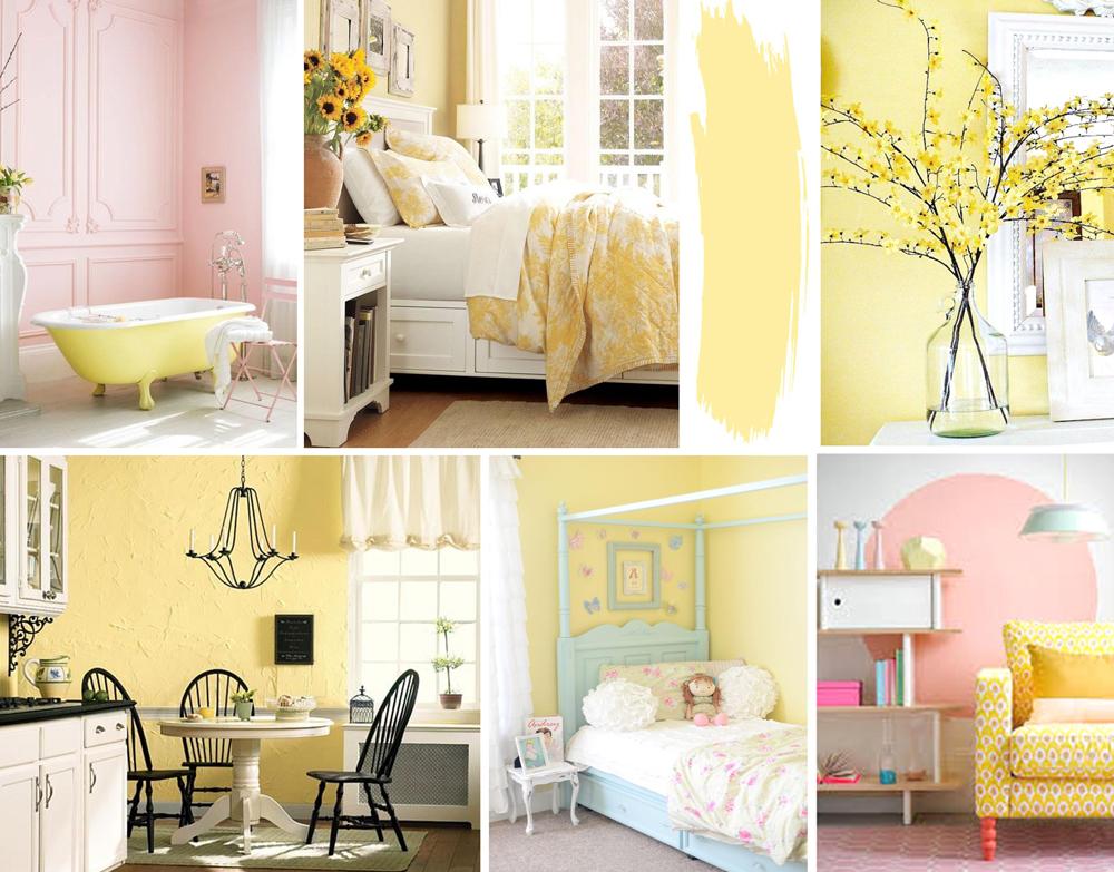 Yellow Interiors - Pastel Yellow